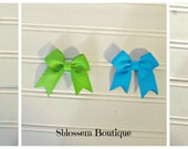 Infant velcro hair bows set of 6