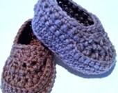 Oh! Baby Boy Loafer Booties, crochet PDF Pattern by DDK