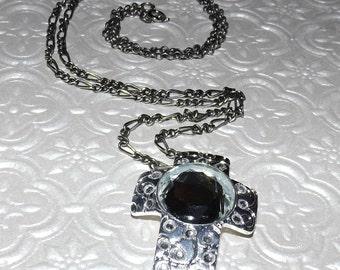 Diamond Cross Crystals Mosaic Necklace