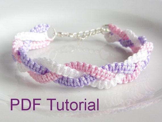 how to make a square knot bracelet pdf tutorial braided square knot macrame bracelet pattern 8443