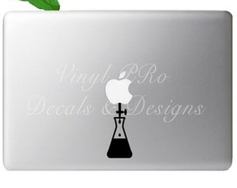 Chemistry Science Titration Synthesis Chemist Solvent Solution Decal for Macbook