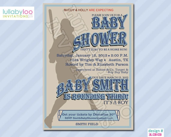 baseball baby shower invitations printable invitation digital file