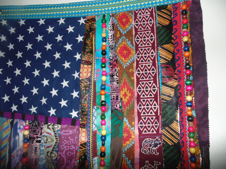 Bohemian Hippie Beaded Curtain Flag Wall Door Ethnic