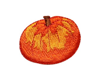ID #0799A Pumpkin Halloween Harvest Autumn Embroidered Iron On Badge Applique Patch