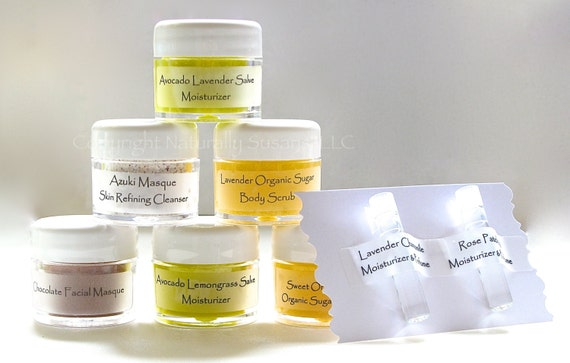 GIFT PACKAGE - NS Minis 8-Pack Gift Set - All Natural / Sample / Travel Size / Bridal Shower Favors