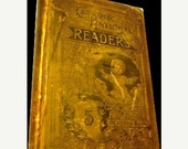 Huge Inventory SALE Rare 1876  Antique Book 1st Edition Catholic National Fifth Reader by Rev. Richard Gilmour