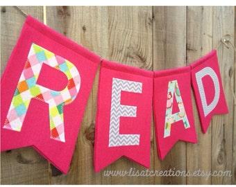 READ felt banner // Teacher Gift // For the Reading Corner