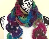 Crocheted Scarf Multicolor
