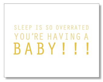 Pregnancy BABY CARD. Funny Card for a Pregnant Friend. Congratulations Baby Boy or Girl on the Way. Baby Shower Card