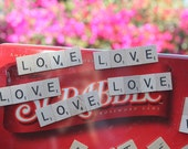 "Set of 10 - Scrabble Tile ""Love"" Magnet Wedding Favors"