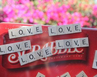 "Set of 10 - Scrabble Tile ""Love"" Magnet Wedding Favors"
