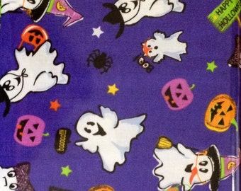 Trick or Treat - Purple Halloween Fabric - Fat Quarter Cut - Halloween Fabric - A E Nathan CO Fabric.