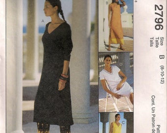 McCall's Sewing Pattern 2796 - Misses' Dress and Pants (6-10, 8-12, 12-16)