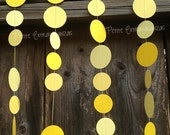 Yellow Ombre Paper Circle Garland- Sunshine Bright Yellow, Yellow, Pale Yellow