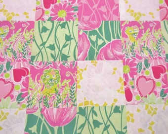 Derby Patch cotton poplin 18 X 18 inches  ~ Lilly Pulitzer fabric~