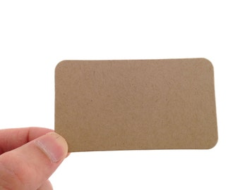 Kraft Brown Business Card Style Tags - Create Something Truly Unique!
