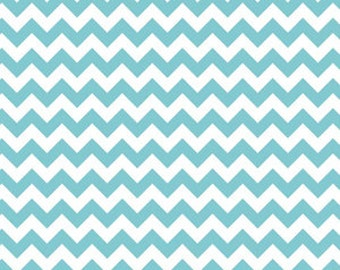 Riley Blake Fabric - 1/2 Metre Small Chevron in Aqua