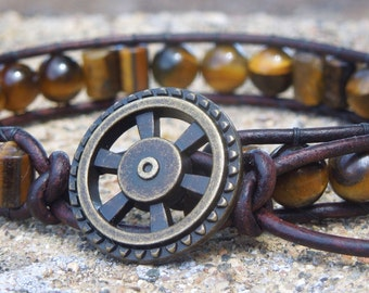 Minds Eye Men's Wrap Bracelet