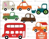 Toy Cars Vehicles Clip Art ---- Personal and Small Commercial Use ---- BB 0480