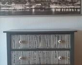 Nursery vintage dresser/changing table refinished
