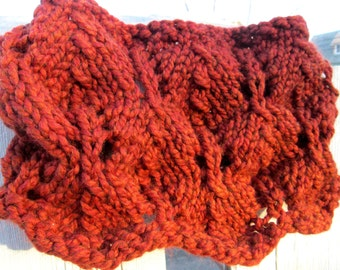 On Fire Cowl in Red Orange or Black Cowl - Made to Order