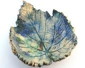 decorative ceramic leaf decor ring dish