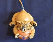 Kentucky Wildcat Mini Bottle Gourd Ornament