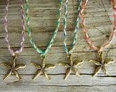 Gold Starfish wish bracelet