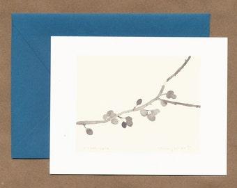 Ornamental Crabapple Card, blank inside