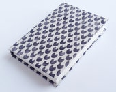 Japanese Fabric Covered Notebook or Sketchbook Cat Print