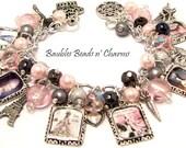 Marie Antionette Charm Bracelet Jewelry, Historical Charm Bracelet Jewelry, French Charm Bracelet Jewelry, Photo Charm Bracelet Jewelry