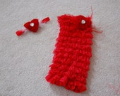 Red Heart Romper Set headband included