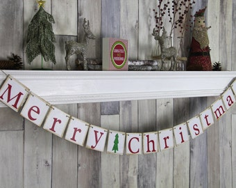 Christmas Decoration - Christmas Banner - Merry Christmas - Christmas Sign - Christmas Garland