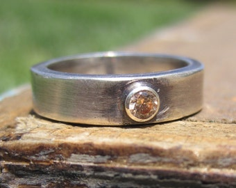 Silver and Champagne Ring