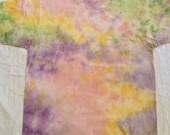 Woman Extra Large XL, Veggie Plant dyed Vegan ORGANIC cotton rainbow tiedye tshirt, earth friendly, skin friendly, no chemicals