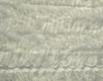 Ivory Wavy Organza 58 Inch Wide