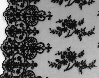 Black Astral Lace 52 Inch Wide Fabric by the Yard