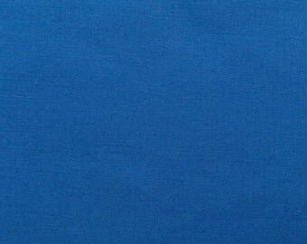60 Inch Poly Cotton Broadcloth Royal Blue Fabric by the yard - 1 Yard