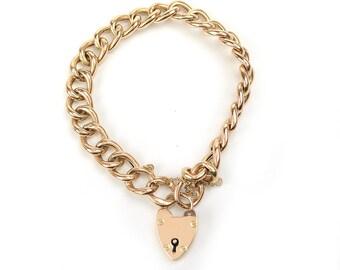 Antique Bracelet - Antique 1920's 9k Rose Gold Locket Bracelet