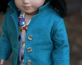 Mini Martini Summer Coat with Floral Shirtdress for AG Doll