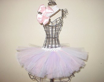 Cotton Candy TuTu Skirt and Headband Two Piece Set Newborn to 6 Months Baby Infant