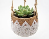 Hanging Succulent Planter - Hanging Pottery Planter - Cactus Planter - Ceramic Planter - MADE TO ORDER
