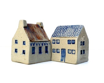 Ceramic Sculpture  Village Houses,  Cottages