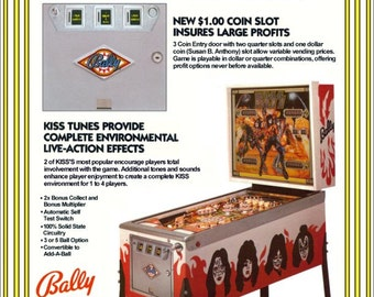 KISS Collectible Memorabilia KISS Bally Pinball Dealers Version Stand-Up Display Collectibles Collection Memorabilia Christmas Gift Retro