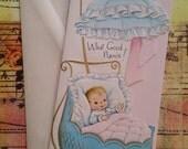Adorable Unused Vintage New Baby Welcome Congratulations Card