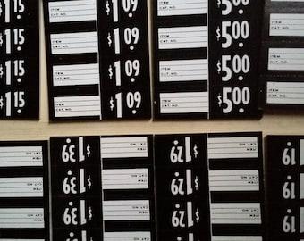 One Dozen Antique Price Tags