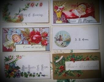 Gorgeous Antique Victorian Calling Cards Lot No.1