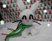 Knitted Christmas Bunny