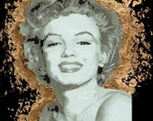 Marilyn Monroe Vectored and Gilded