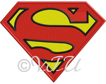 Superman Embroidery OR Applique file - FILE ONLY
